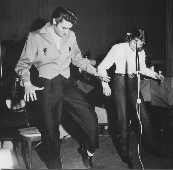 Elvis & Judy Spreckels - New Frontier Hotel, Las Vegas, April / May, 1956. (Image source)
