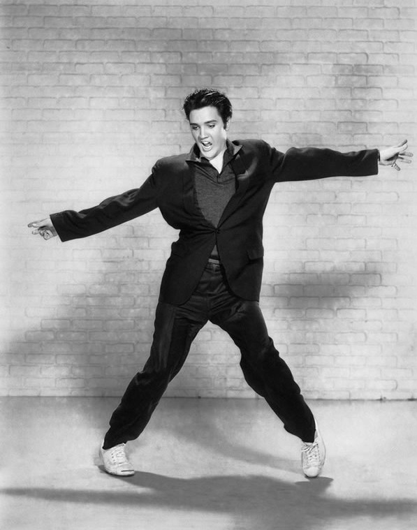 Elvis Presley, Jailhouse Rock press photo, 1957 (Image source)