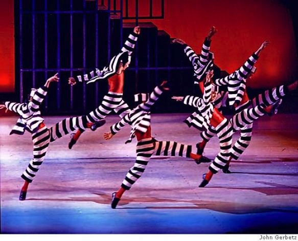 """Jailhouse Rock from """"Blue Suede Shoes"""" choreographed by Dennis Nahat. Photo: John Gerbetz"""