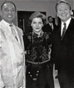 Dennis Nahat, Priscilla Presley and Bob Mackie (Premiere of Blue Suede Shoes, photo by Rob Muller)