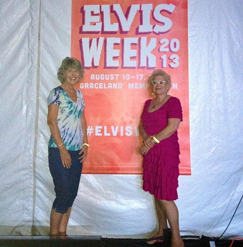 Nancy & Arlene form Florida in the Graceland Main Stage Tent (Elvis Week 2013)