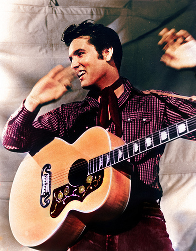 Elvis with Guitar