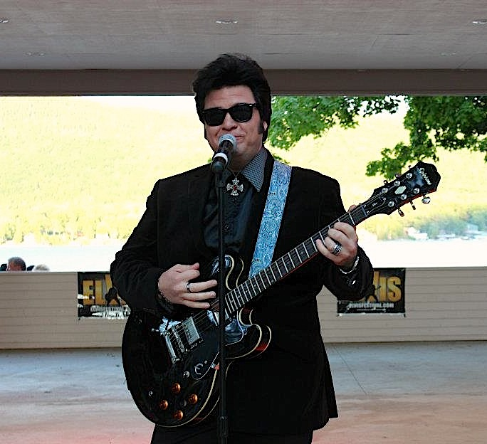 Jesse Aron in a tribute to Roy Orbison - 2012 Lake George Elvis Festival (Photo: Marie White)
