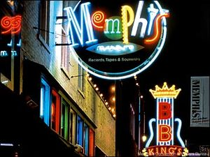 Neon signs on Beale St., Memphis