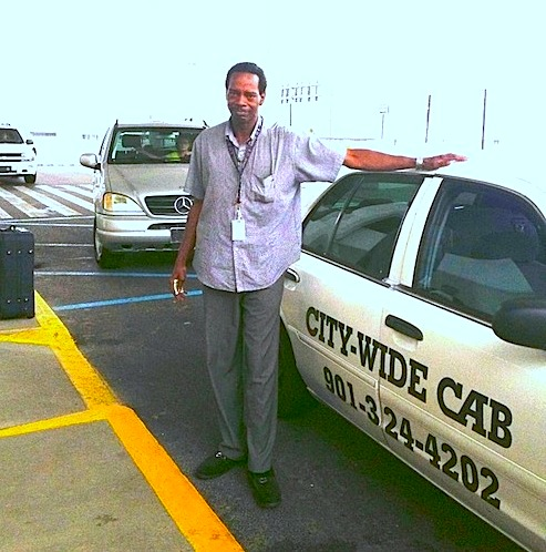 Frank Williams, City-Wide Cabs Car #2 in Memphis got us to the airport right on time. (August 2013)