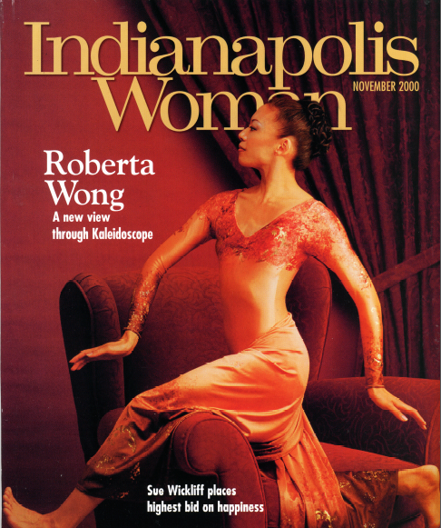 Roberta Wong on the cover of Indianapolis Woman Magazine (Greg Puls Photography, article by Shari Finnell)