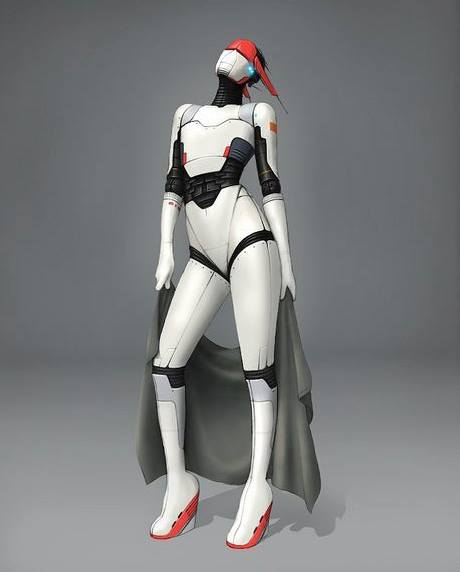 Sci-Fi inspired artwork. Robotina by Paul Vera-Broadbent (Source: http://www.flickr.com/photos/pvbroadz/7521824086/)
