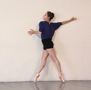 Sarah Van Patten, studio rehearsal for SID (Photo by Danielle Short)
