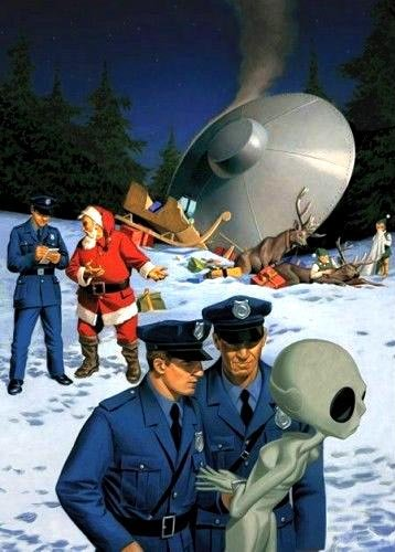 Santa & the Flying Saucer