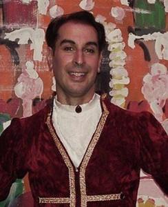 David Bier, in costume as the Prince in the Nutcracker