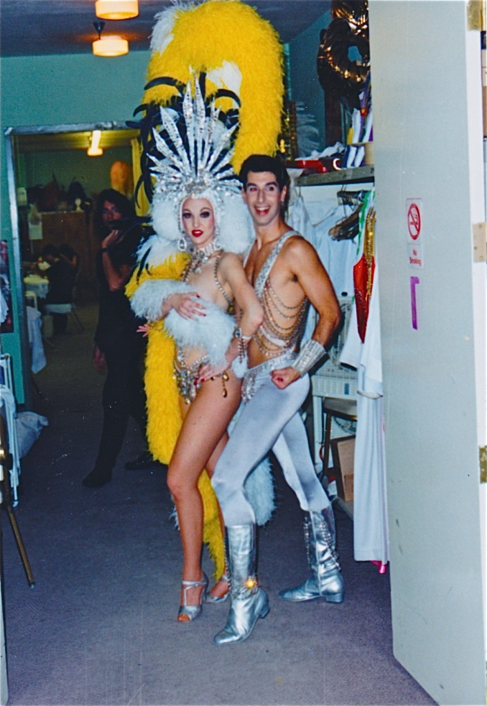 David Bier with dance partner backstage in Jubilee (Las Vegas, NV)