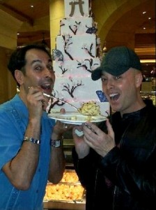David Bier and Christopher Kenney at the Bellagio Buffet