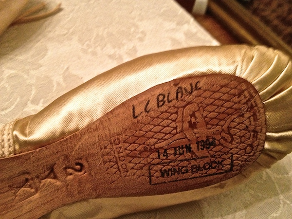 A pointe shoe made by Freed of London for the incredible, Tina LeBlanc. (Photo by DanseTrack)